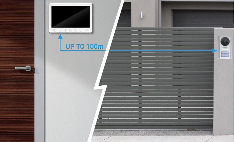videointerfon cablare lunga pana la 100 metri